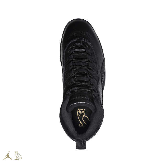 BLACK OVO JORDAN 10S TOP