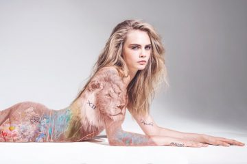 Cara-Delevingne-Naked-Animal-Rights-Campaign